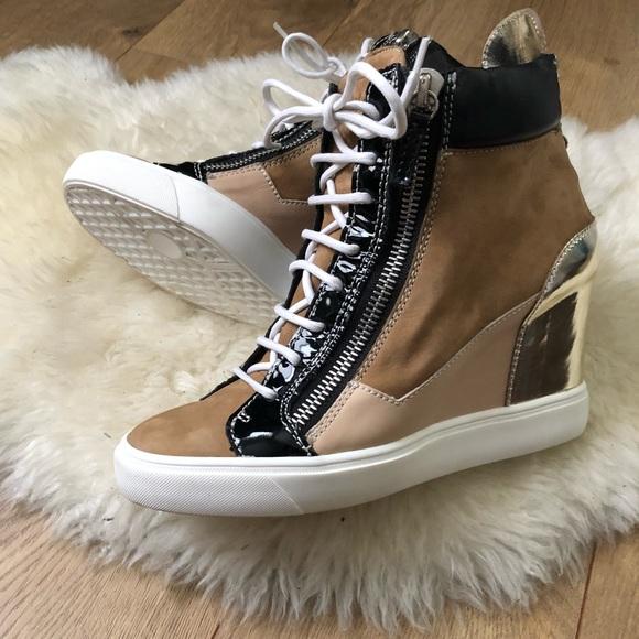 2d0c268340b01 Giuseppe Zanotti Shoes | Lorenz Wedge Heel Sneakers | Poshmark